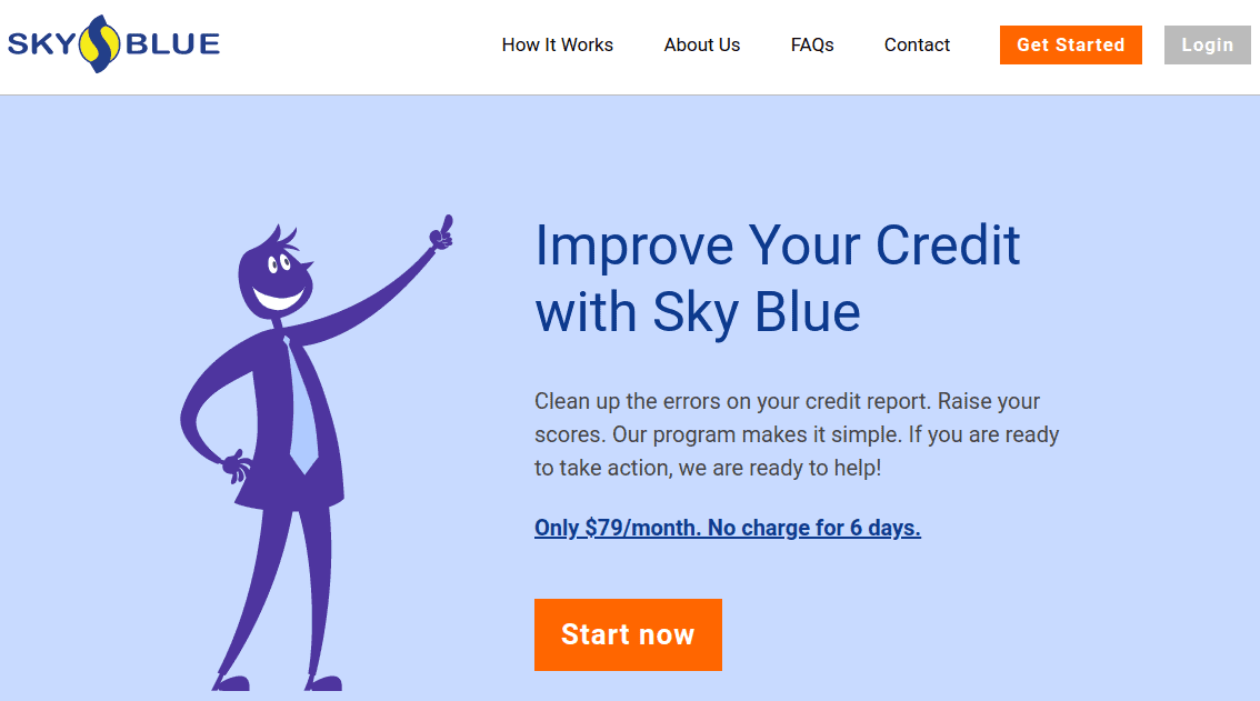 Sky Blue Credit Website