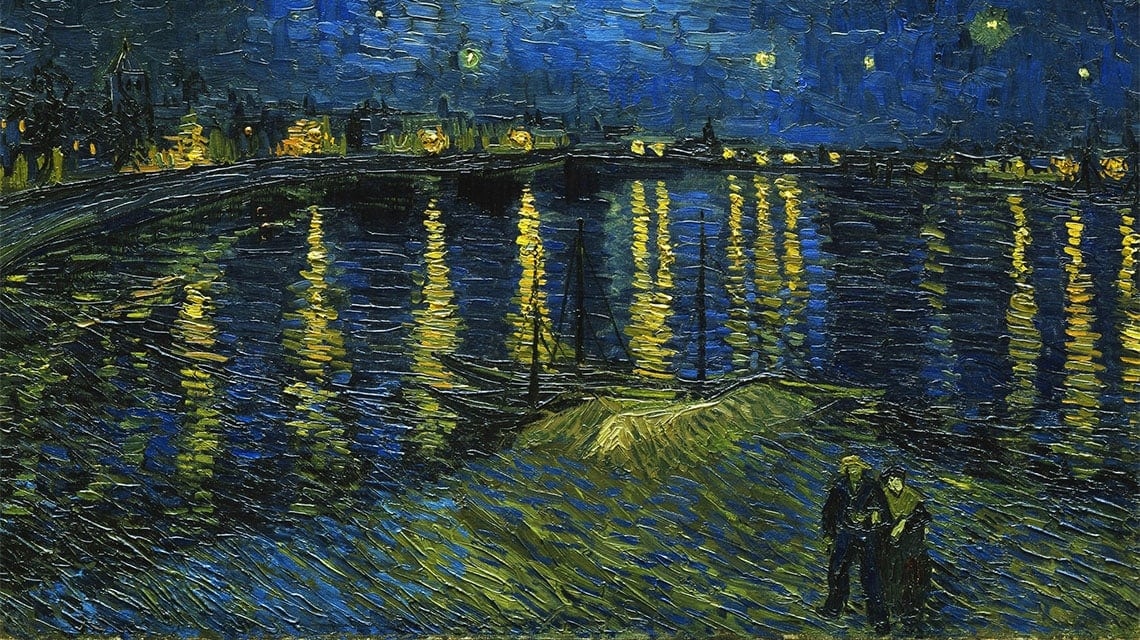 Starry Night painting by Van Gogh