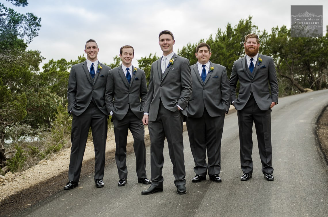 groomsmen wedding suits and tie photography hill country wedding