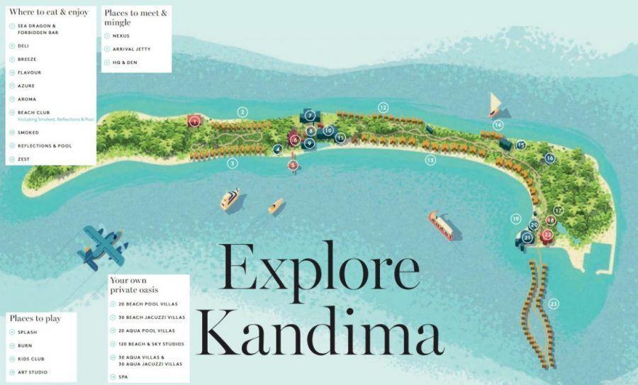 Mapa del Hotel Kandima Maldives