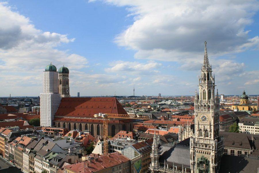 vista aérea de Múnich