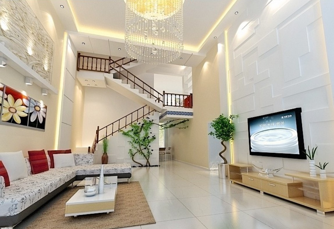 Living Room Stairway Decoration