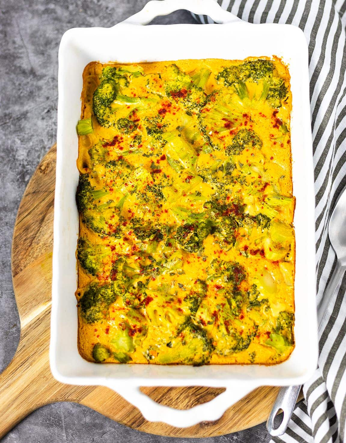 Gluten-Free Vegan Broccoli Cheese Casserole