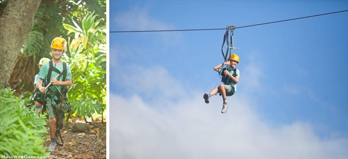 child zipline in Hawaii