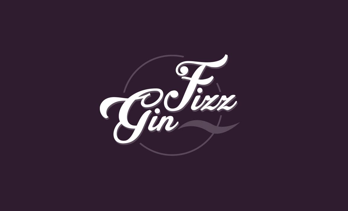 Gin Fizz. Logo della band musicale, stile vintage.