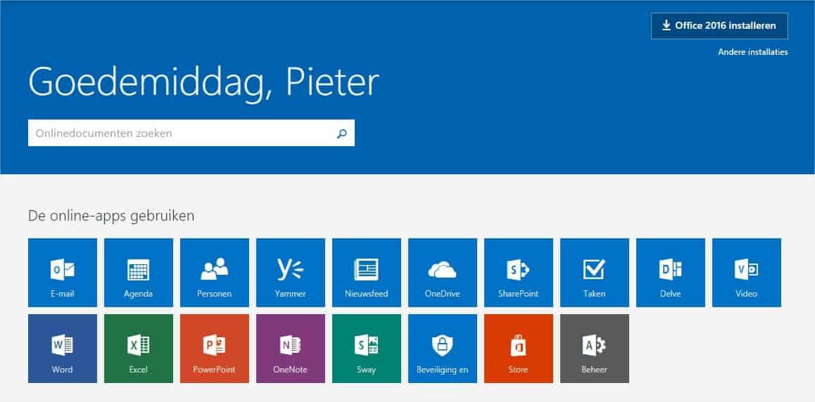 Office 365 web