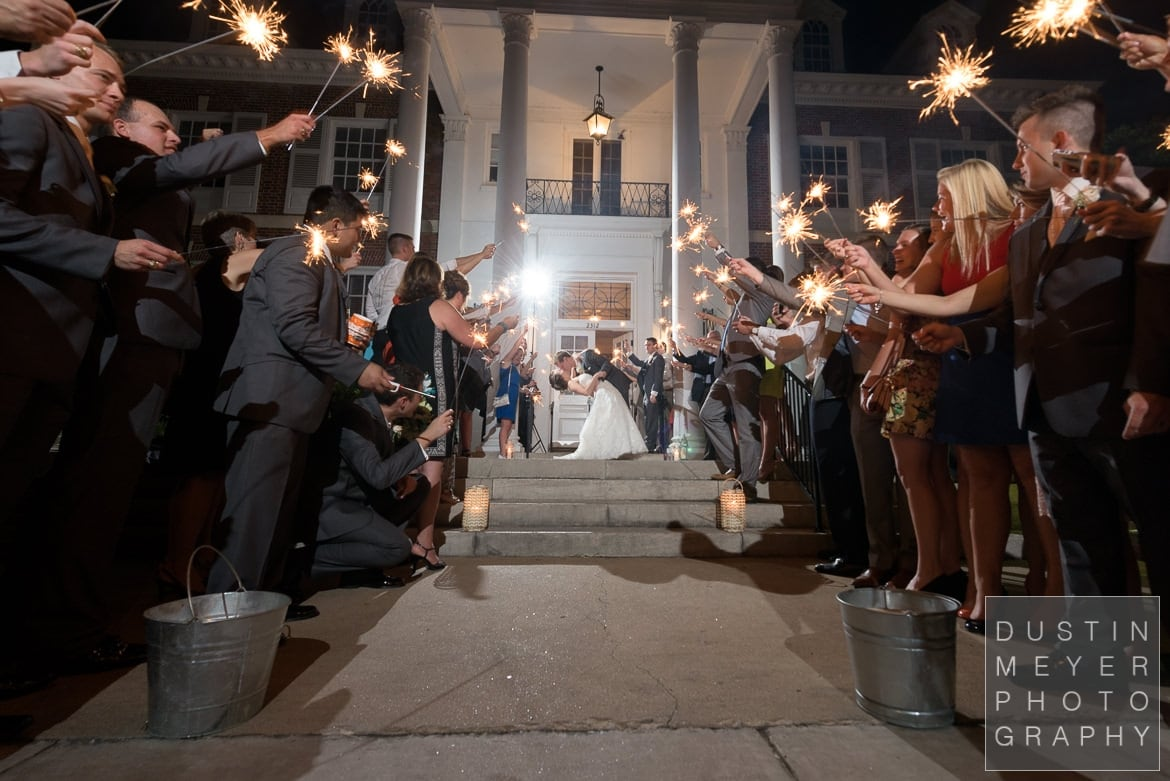 sparkler exit texas federation of women's clubs wedding