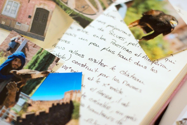 Carnet de voyage DIY texte et photos