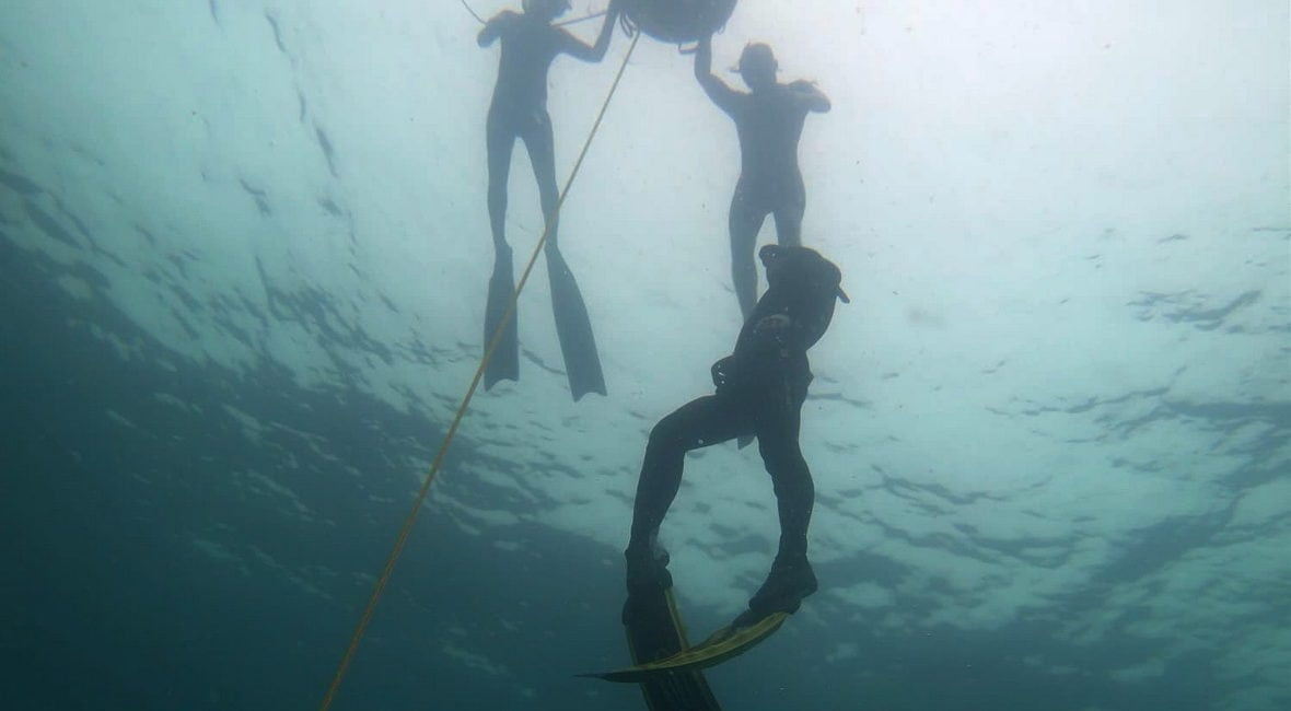 freediving wirh friend