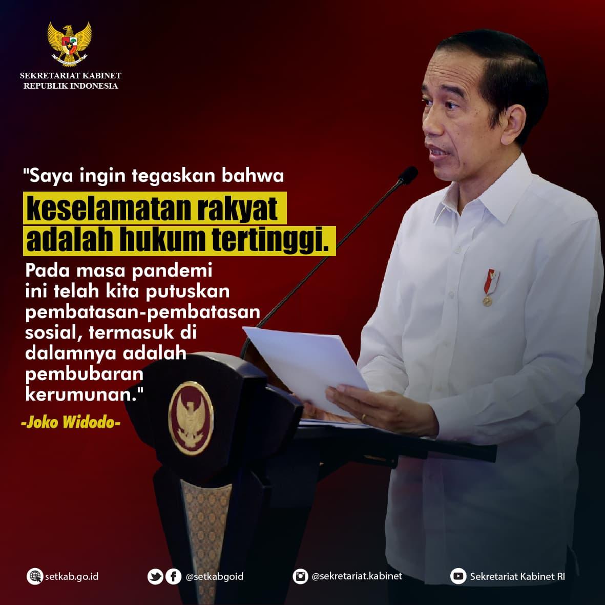 Arahan Presiden Joko Widodo mengenai Penanganan Covid-19 pada Rapat Terbatas, Senin (16/11)