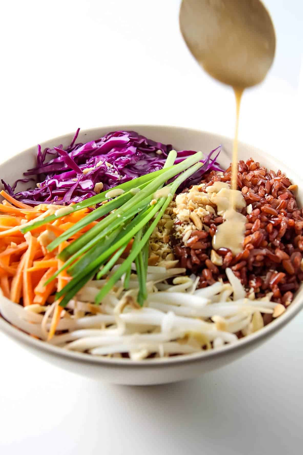 Thai Buddha Bowl with Peanut Sauce