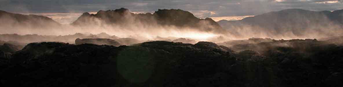 Island Rauchende Felsen - Vulkanismus
