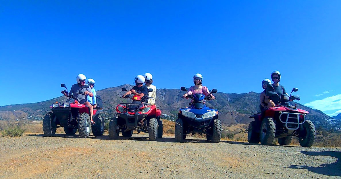 4 quads stopped for a break to take pictures