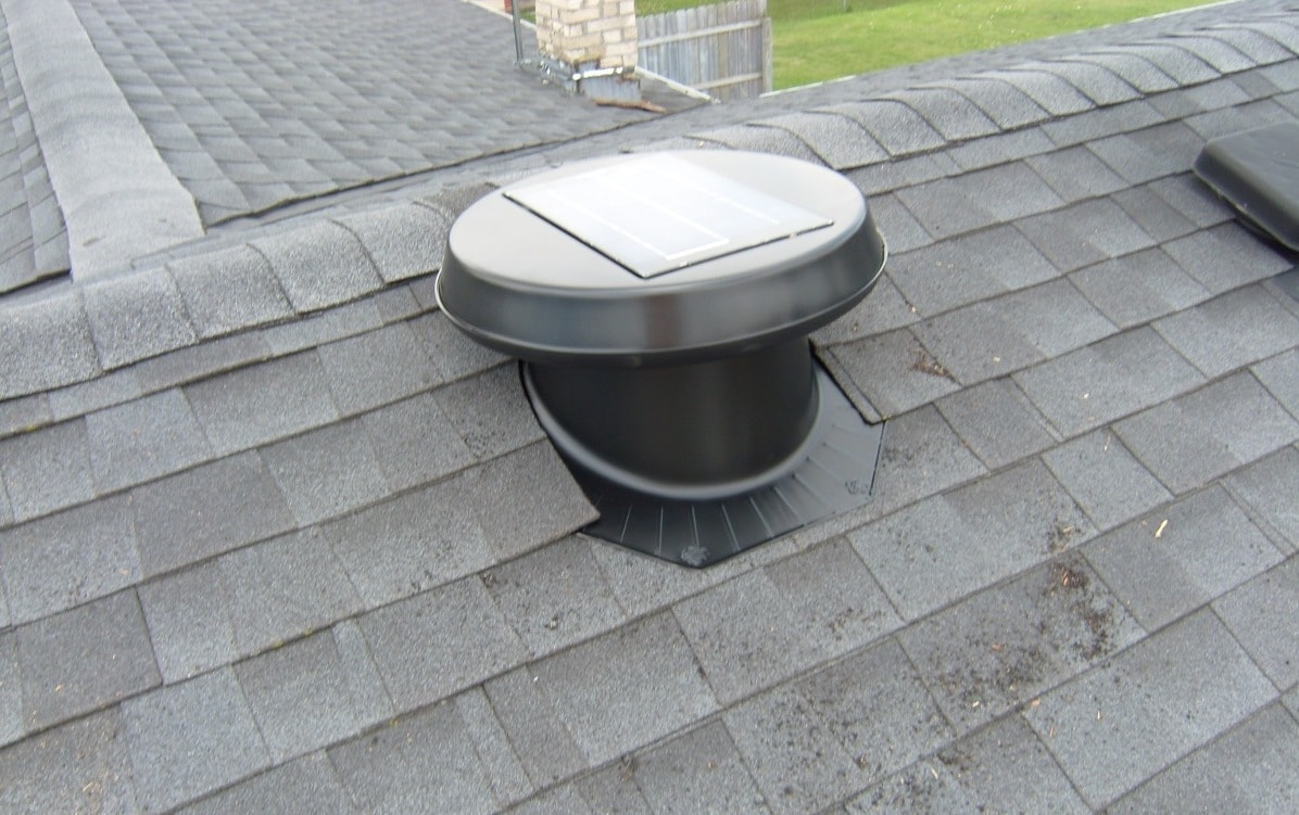 picture of a solar attic fan