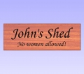 Shed sign - Engraving simulation sent to you for approval in the font of your choice