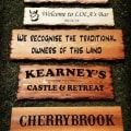 Signs and plaques designed recently, a wide range of fonts and styles to choose from, made to order then posted to your door.