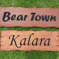 Routed timber signs, Cedar - outdoor