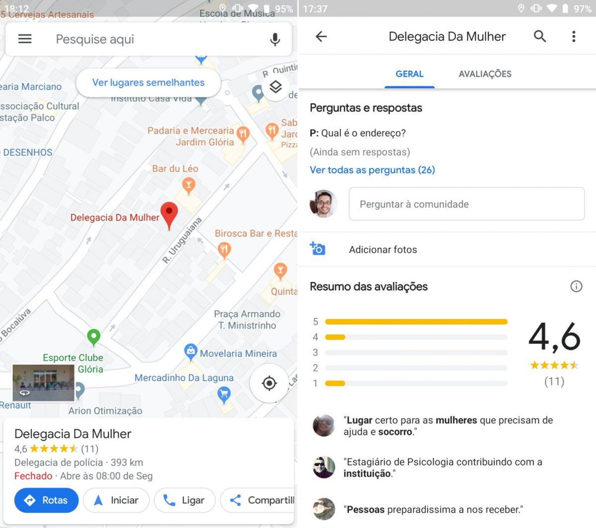 Google Maps salva