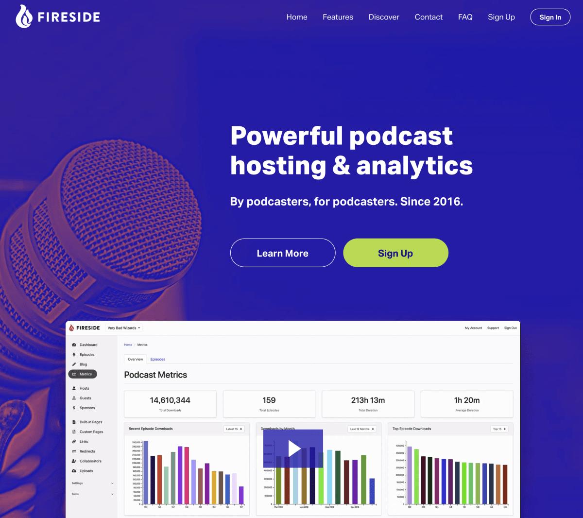 Fireside.fm Podcast Hosting
