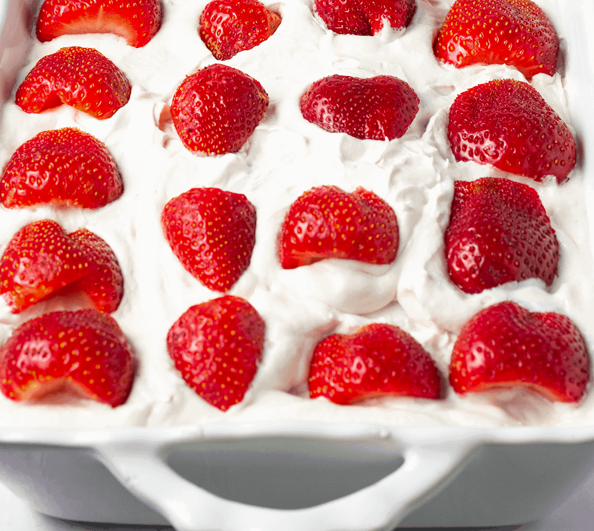 Easy gluten-free vegan strawberry ice box cake no bake