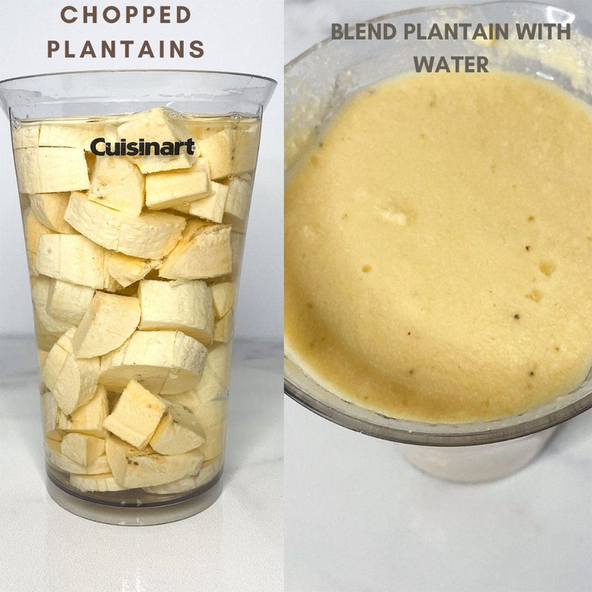 Blending plantain in stick blender
