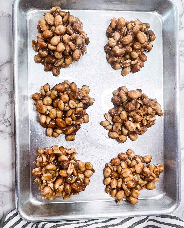 peanut drops baking sheet