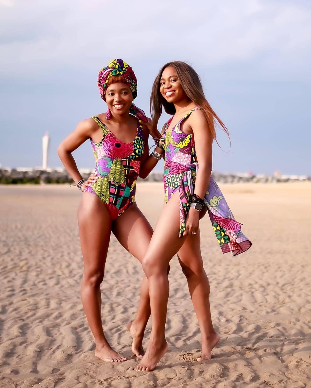 Fulani African Print Swimwear Set