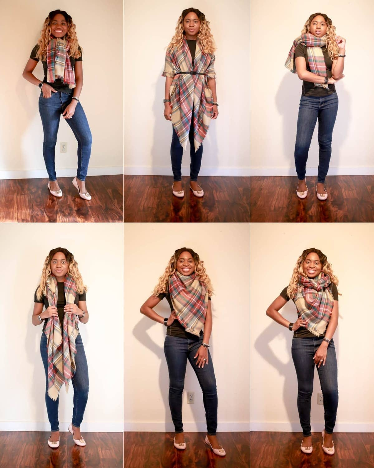 Check out these 6 ways to wear a blanket scarf for fall and winter. These quick blanket scarf tutorial will uplevel your winter wardrobe in no time!