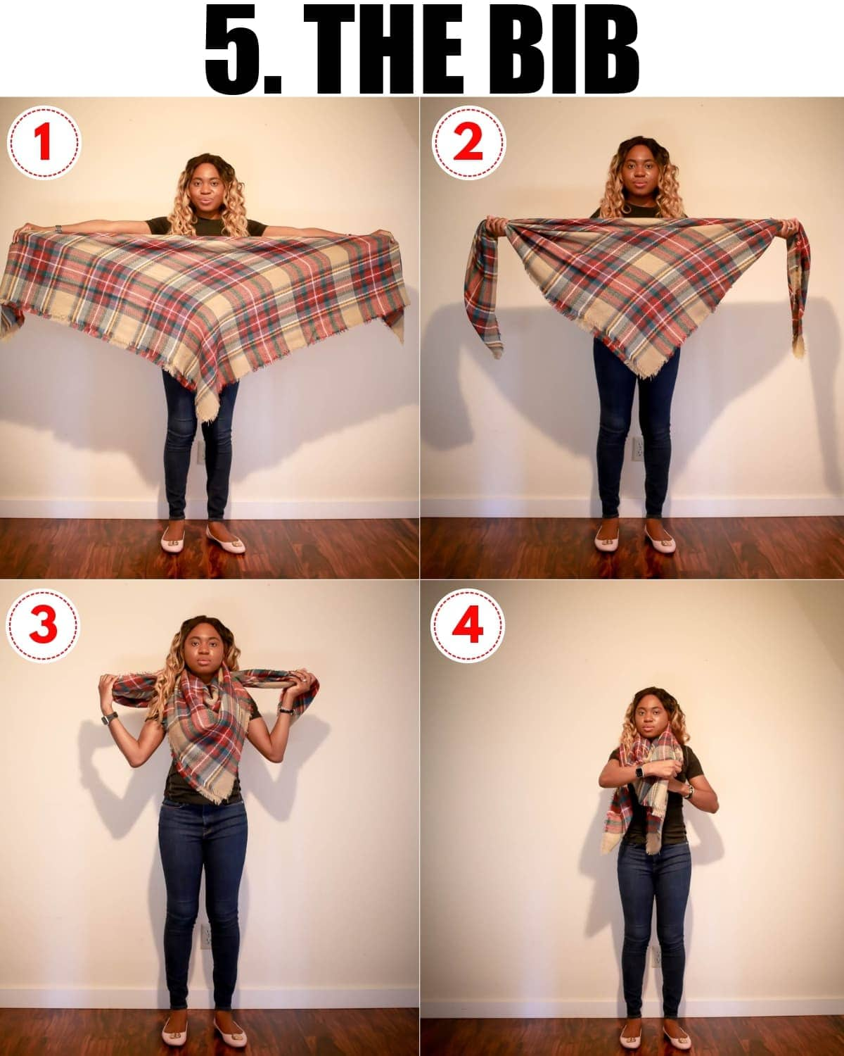 Learning how to tie a blanket scarf might seem like a daunting task. Here are 5 easiest ways to wear a scarf this year.