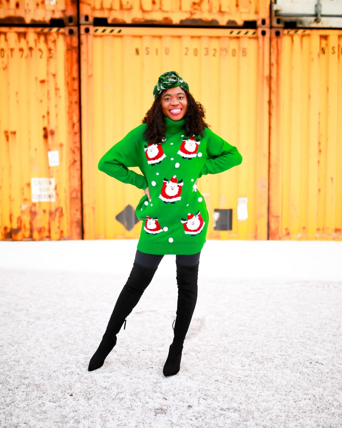 This is the cutest ugly Christmas sweater everyone is talking. Why you should get this cozy holiday dress and where to get it under $40. #christmassweaters #christmasdress