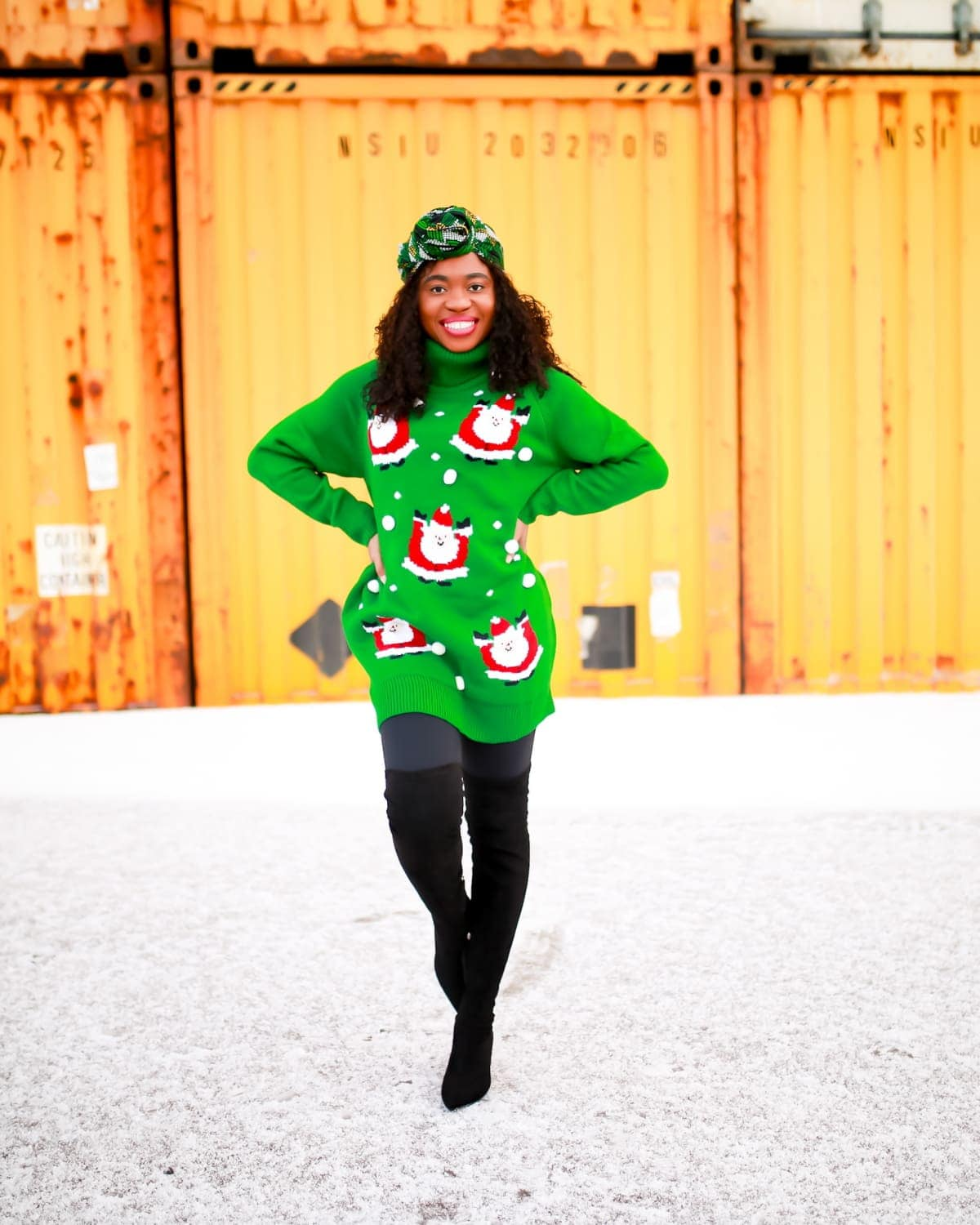 Looking for a stylish and cute Christmas sweater dress to rock this year? You're in luck! This affordable Xmas sweater is up for grabs and ships free. How to style your sweater and where to get this sweater dress right now. #uglychristmassweater #sweatersforwomen