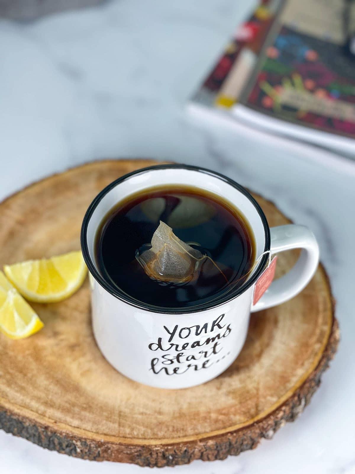 overlay of chaga mushroom tea