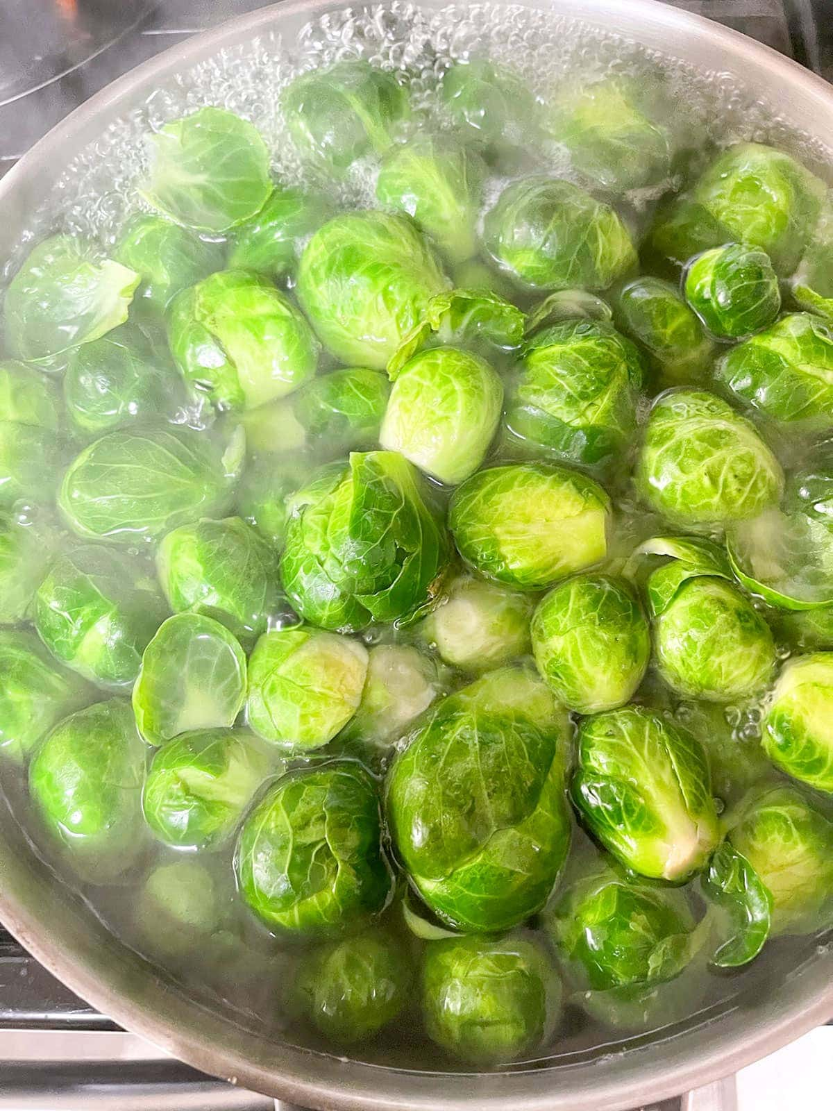 brussel's sprouts blanching