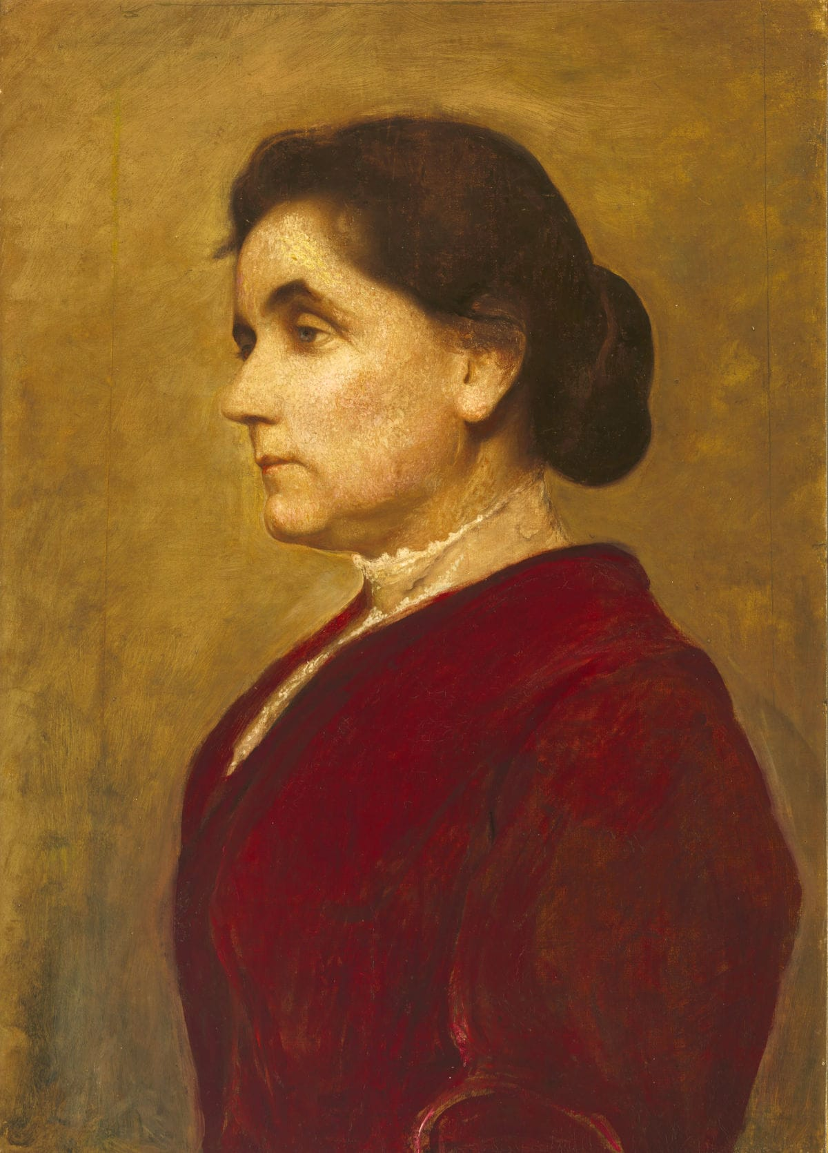 Jane Addams painted by George de Forest Brush, National Portrait Gallery, Smithsonian Institution.  Sourced from Wikimedia - listed as being in the public domain.