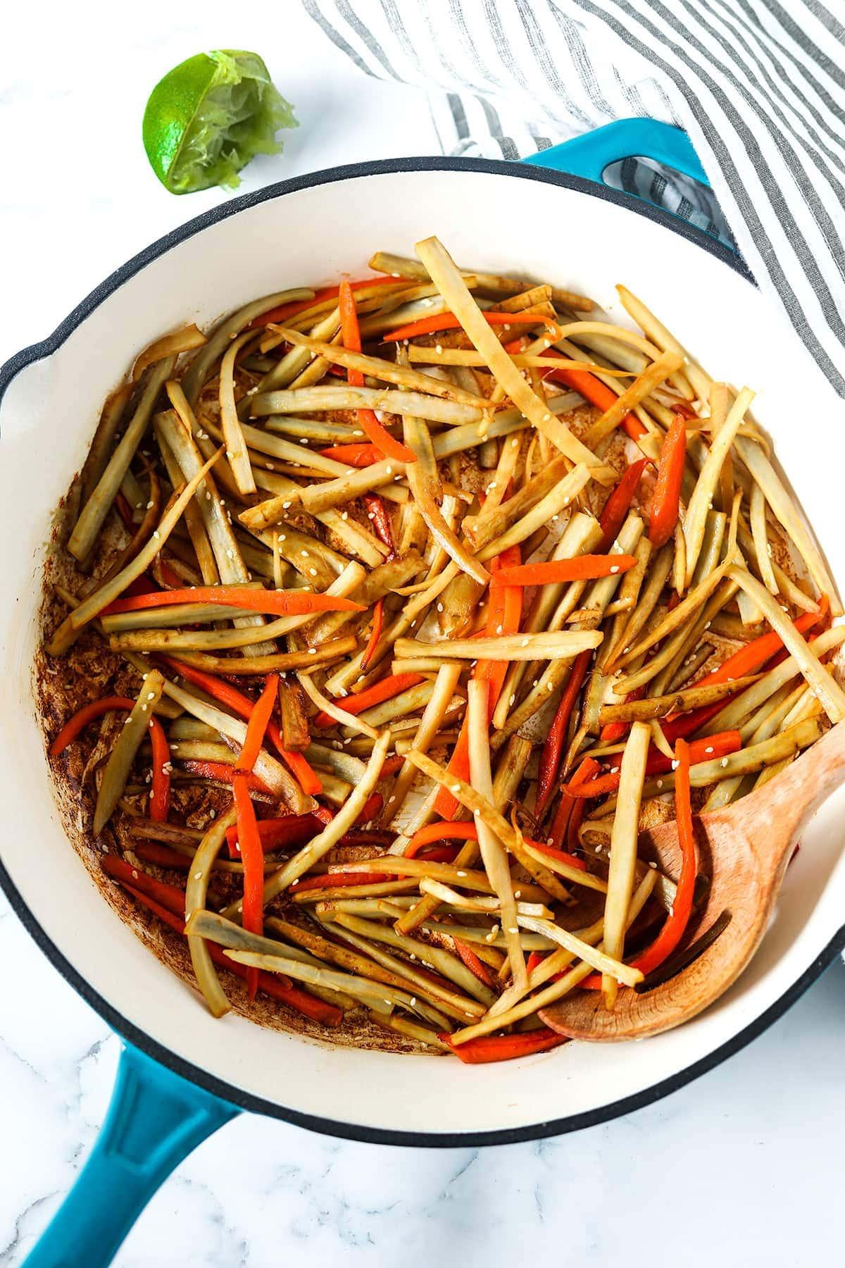Stir Fried Burdock Root