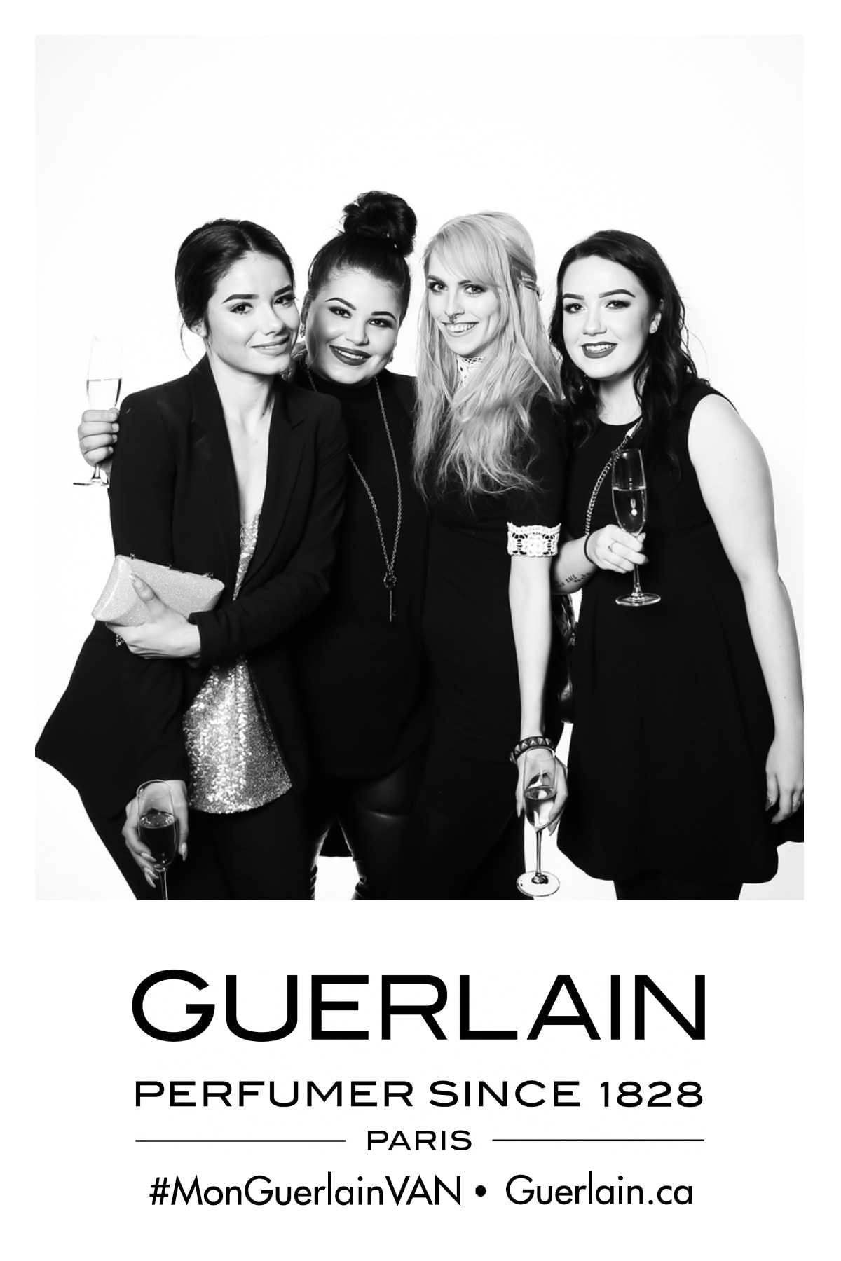 guerlain vancouver launch event photo portrait station black and white