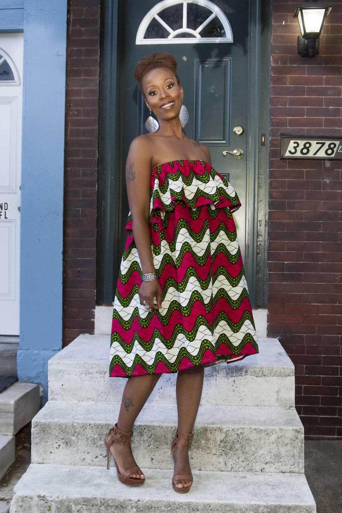 Gorgeous ruffled ankara dress perfect for summer