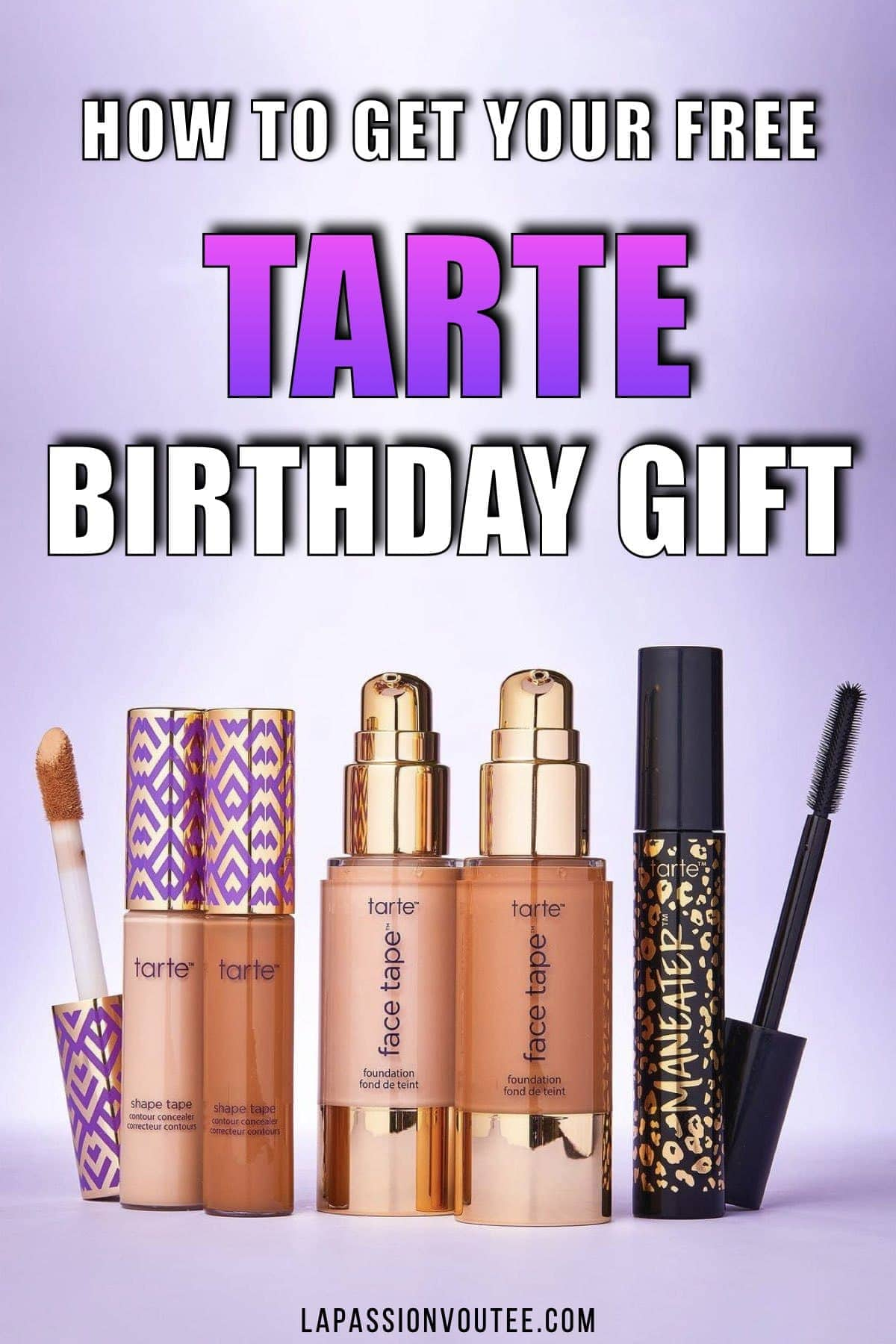 How to get your FREE Tarte Birthday Gift