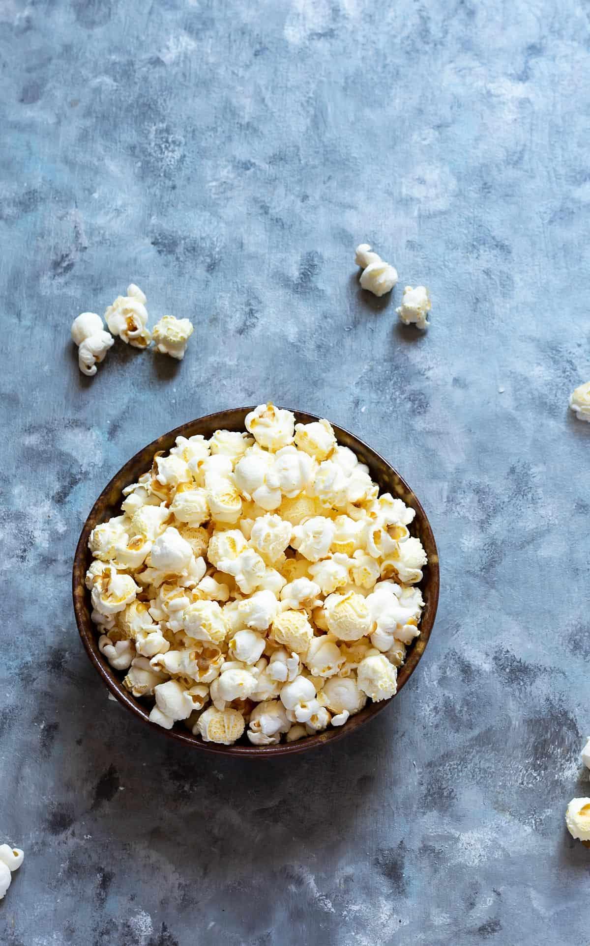 Bowl of Fresh Popcorn