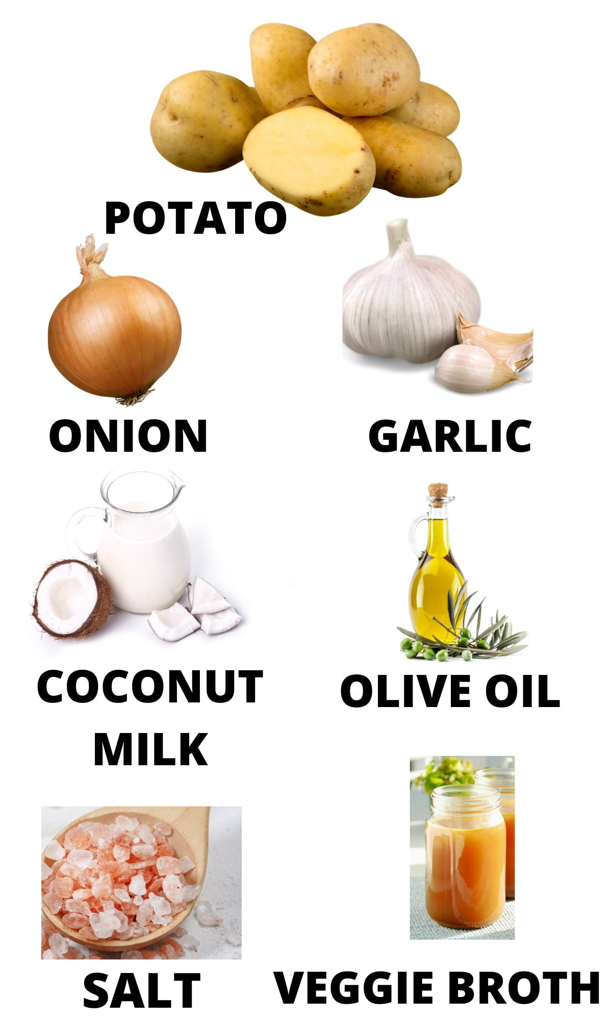 ingredients for instant pot potato soup