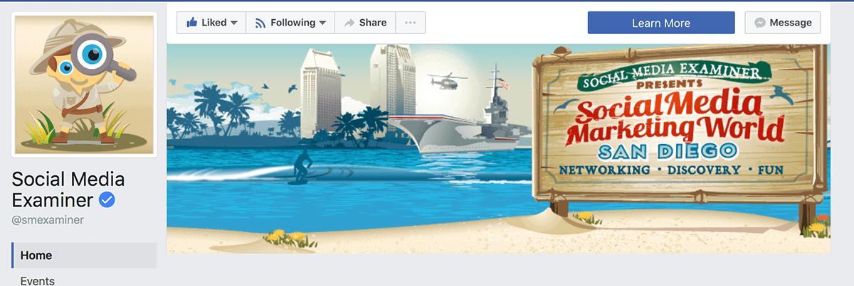 Social Media Examiner Facebook cover