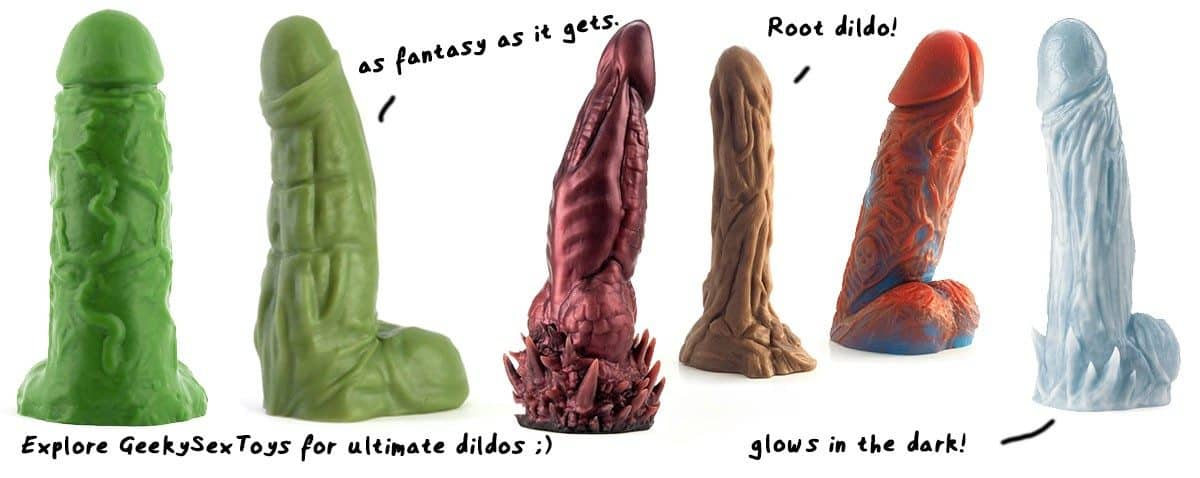 dragon dildos from GeekySexToys