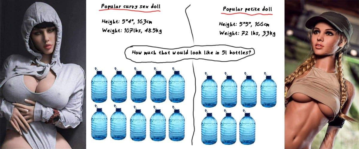the best curvy and petite sex doll weight compared
