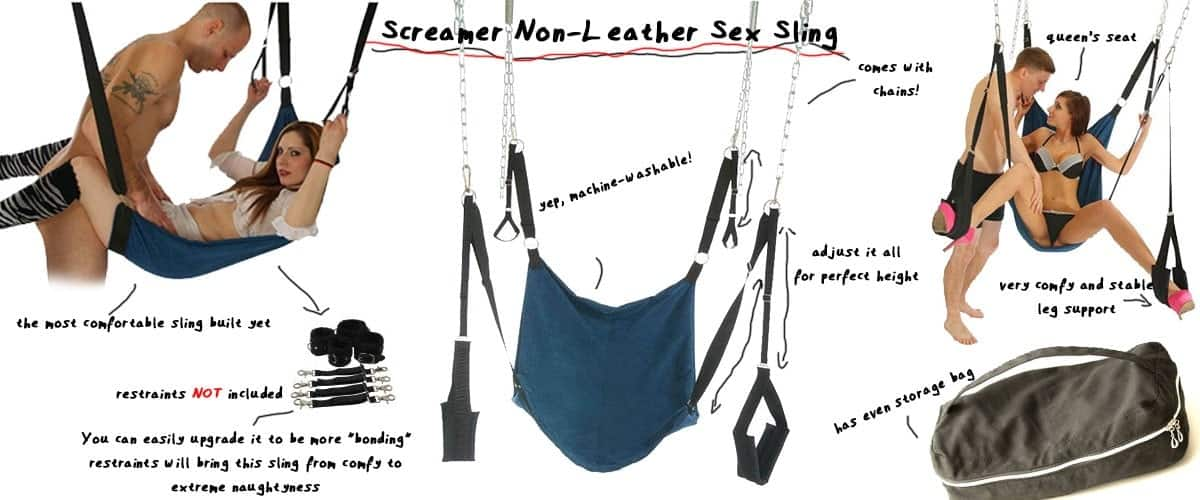 screamer sex sling and positions showed