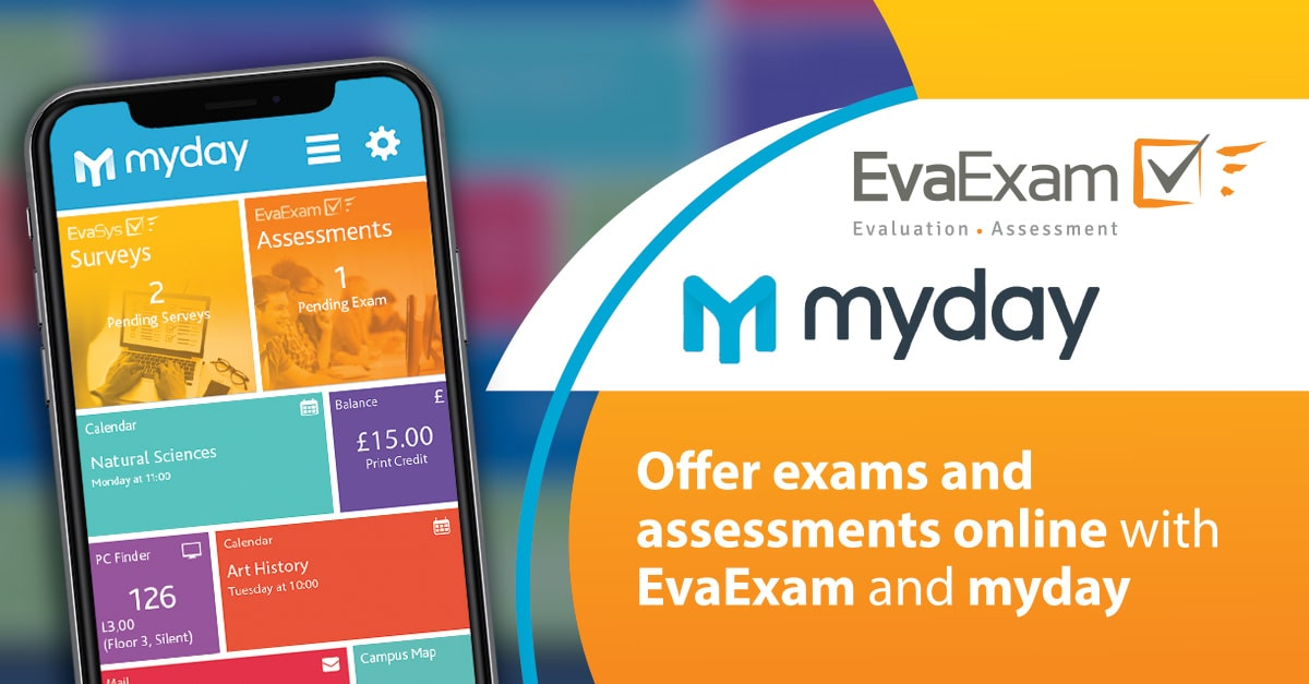 Offer exams assessments online with EvaExam myday