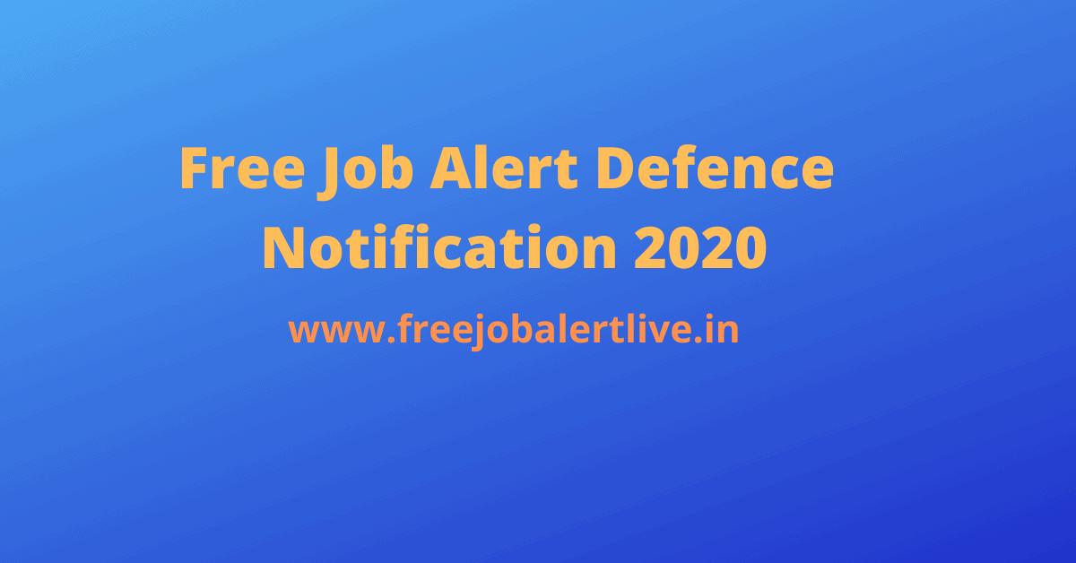 free job alert Defence