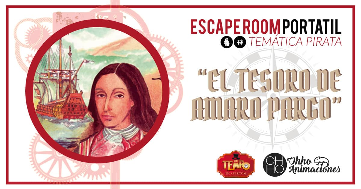 Escape room a domicilio en Sevilla. GYMKHANA PIRATA: Amaro Pargo