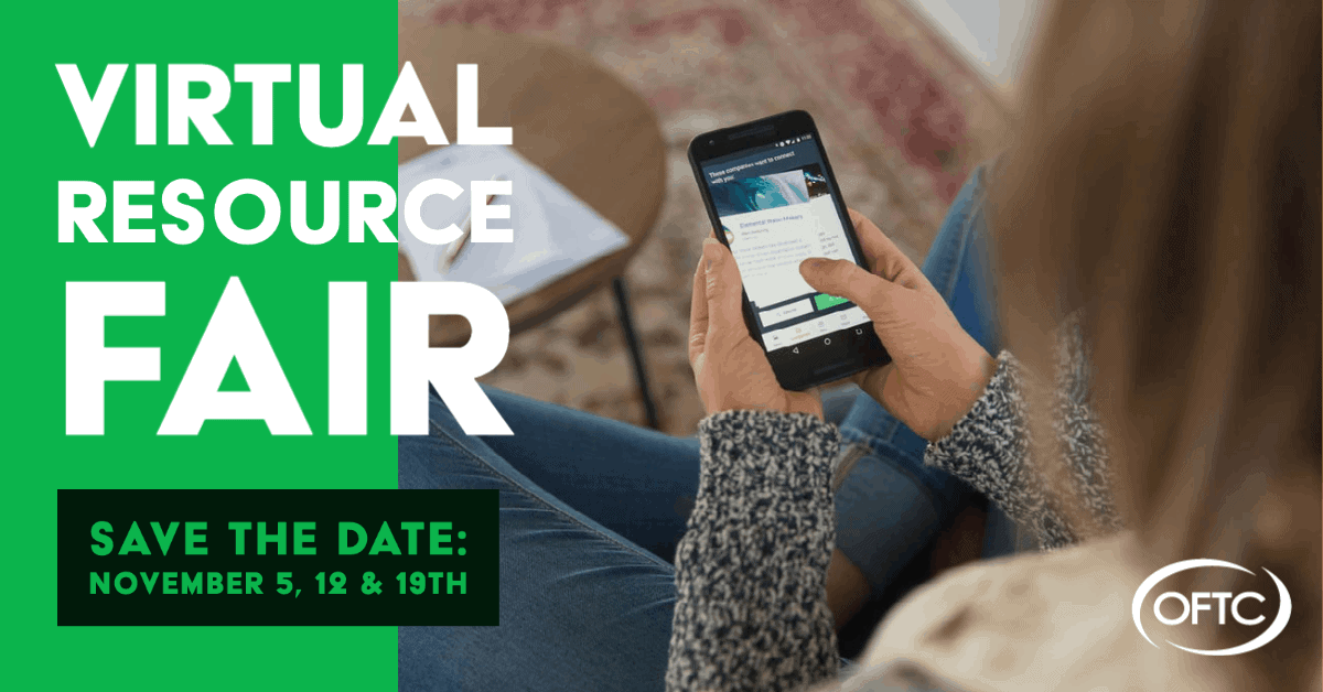OFTC will host a virtual resource fair for students November 5, 12, & 19.