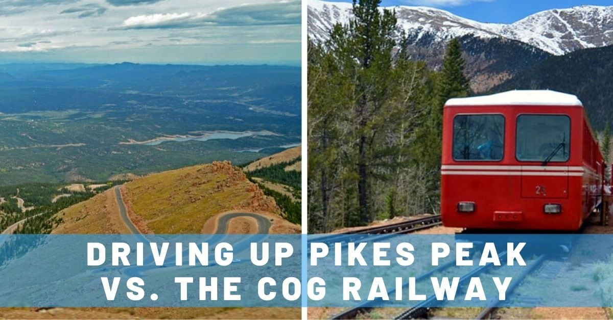Driving Up Pikes Peak vs. the Cog Railway