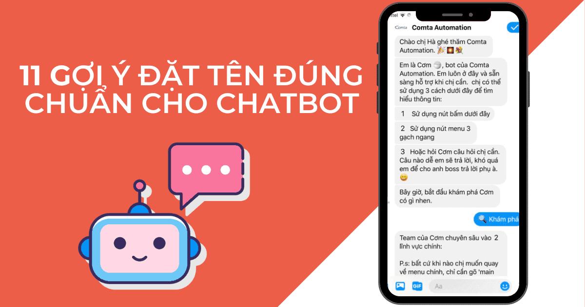 Cover 11 gợi ý đặt tên đúng chuẩn cho chatbot